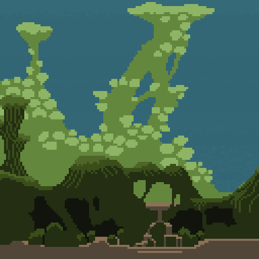 A pixelly swamp based on Roger Dean's Greenslade cover